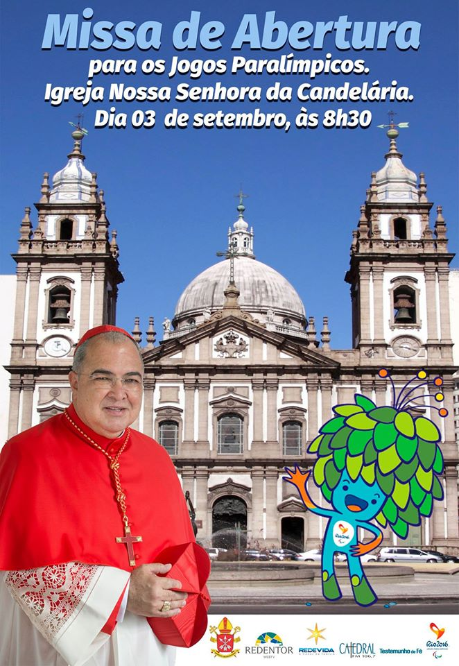 Arquidiocese do Rio celebra Missa por atletas da Paralimpíada