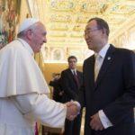 Ban ki-Moon elogia trabalho junto com o Papa para o bem comum