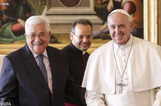 Francisco recebe Presidente palestino Abbas no Vaticano