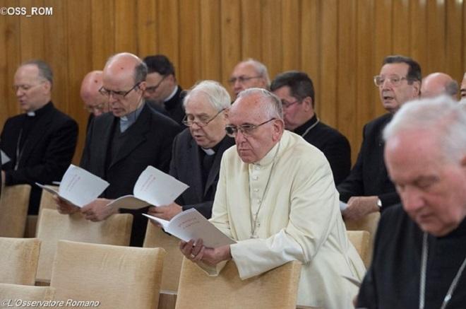 Papa e Cúria romana farão retiro espiritual de 5 a 10 de março