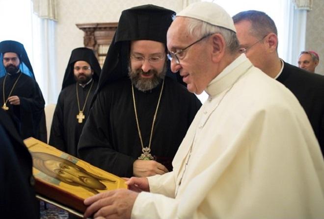 Papa aos ortodoxos: profunda consonância de visão sobre desafios