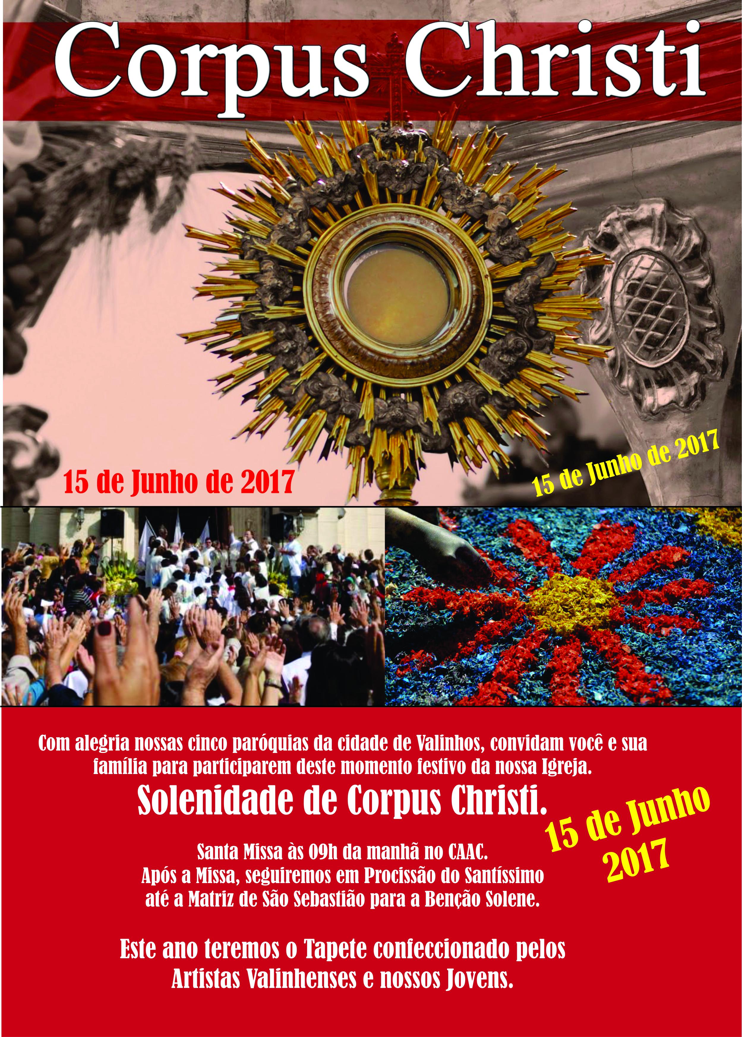 Solenidade de Corpus Christi. Participe! « Paróquia São Sebastião 54897f9ab78