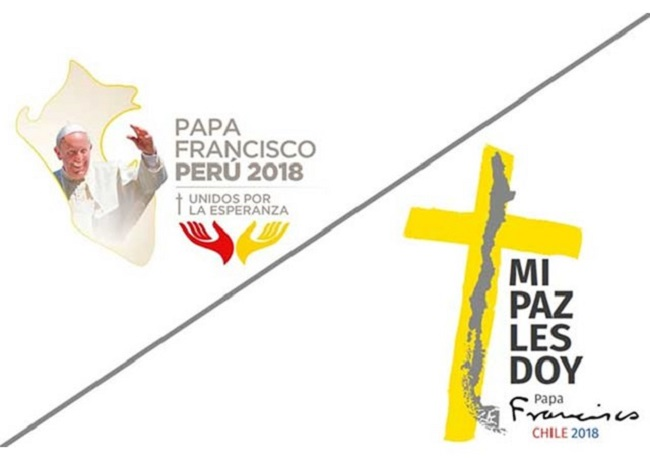 Visitas do Papa ao Chile e Peru já têm logo e tema