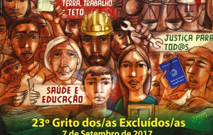 """Grito dos Excluídos: """"por direito e democracia, a luta é todo dia!"""""""