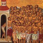 Quarenta mártires de Sebaste, deram testemunho no martírio