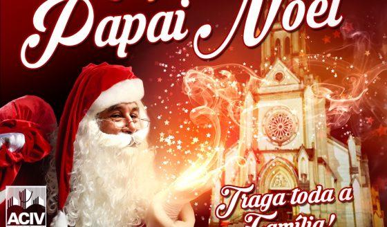 Chegada do Papai Noel em frente a Matriz. Participe!